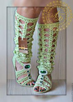 Обувь ручной работы. Сандалии-Сапоги..Синтия Softness...цвет-тропик+В…