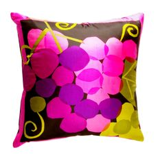 Purple pillow from Austin's own Deborah Main Designs, this one made from a vintage Vera Neumann scarf.