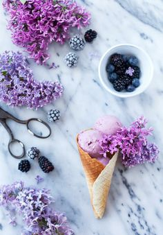 Blackberry Ice Cream / Call me Cupcake