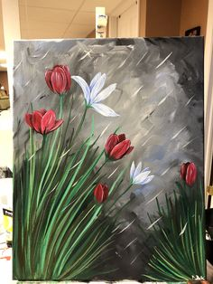 Painting on black canvas
