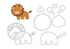 keçeden_hayvanlar_kalıpları_aslan