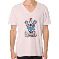 Read Across America V-Neck (on man) Shirt
