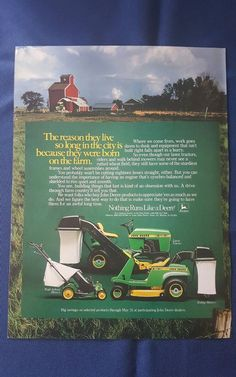 vintage John Deere lawn mower ad #JohnDeere