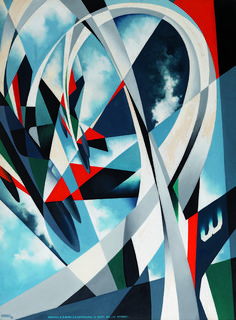 Tullio Crali | 1910-2000, Italy, futurism Futurism Art, Retro Futurism, Italian Painters, Italian Artist, Italian Futurism, Abstract Art Images, Design Movements, Constructivism, Giacomo Balla