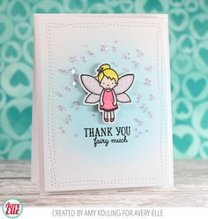 Amy Kolling for Avery ElleSupplies: Pixie Dust Clear Stamps and Elle-ments Dies Wonky Stitches Die