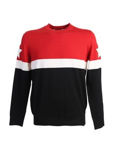 GIVENCHY Wool Blend Contrasting Bands Jumper. #givenchy #cloth #