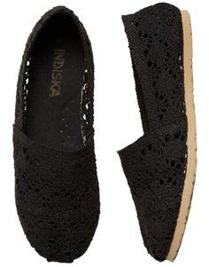 LACE shoe black | Espadrilles | Footwear | Footwear | Accessories | INDISKA Shop Online