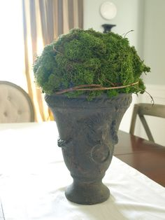 Less-Than-Perfect Life of Bliss: Moss Urns: A Simple How-to