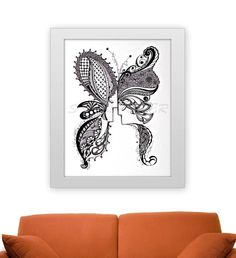 Butterfly   Stella Viner via Etsy -- http://www.etsy.com/shop/PurpleheARTyoga?page=2