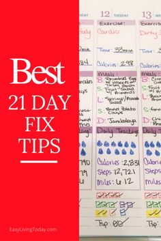 The BEST 21 Day Fix Tips for a successful round!