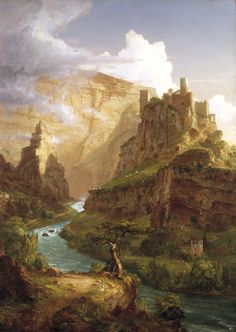 Thomas Cole Valley of the Vaucluse painting for sale - Thomas Cole Valley of the Vaucluse is handmade art reproduction; You can shop Thomas Cole Valley of the Vaucluse painting on canvas or frame. Landscape Art, Landscape Paintings, Landscapes, The Course Of Empire, Image Nature Fleurs, Thomas Moran, Dallas Museums, Images Vintage, Wow Art