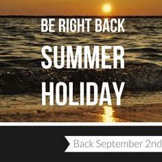 We are now closed until September emails are being monitored and anything urgent will still be dealt with! See you in 2 weeks 😎 . Annual Leave, Be Right Back, September 2, Instagram Feed, Holiday, Summer, Movie Posters, Vacations, Summer Time