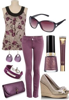 """Purple Jeans"" by kswirsding on Polyvore"