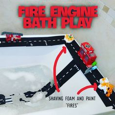 Fire Engine, Bath Time, Shaving, Encouragement, Engineering, Play, Personalized Items, Fun, Inspiration