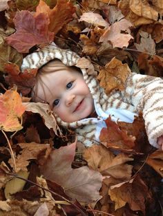 Fall Photo--where to find enough leaves in rexburg. Autumn Photography, Children Photography, Family Photography, Photography Poses, Fall Baby Pictures, Fall Family Photos, Toddler Photos, Jolie Photo, Cute Photos