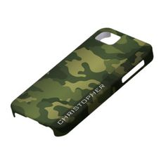 Military Camo Pattern Green with name iPhone 5 Covers  Click on photo to purchase. Check out all current coupon offers and save! http://www.zazzle.com/coupons?rf=238785193994622463&tc=pin