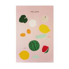 NEW!! Large Melons Print / Plant Planet