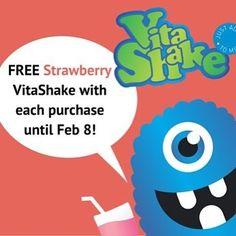 FREE - Strawberry VitaShake with every purchase until Feb 8. #free #vitamins #brauerbaby www.brauer.com.au