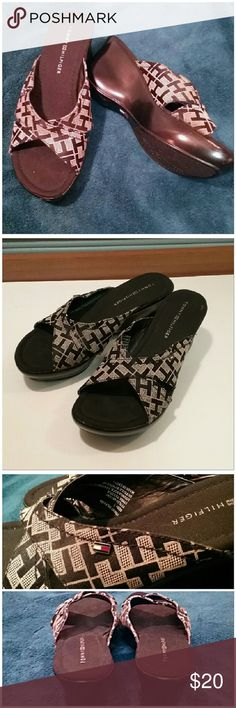 Tommy Hilfiger signature slip on shoes In brand new condition without a box. Tommy Hilfiger Shoes Mules & Clogs