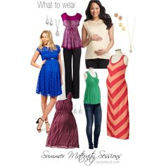 What to wear - summer maternity session.  Think clingy but comfortable, with simple patterns and solids to keep the attention on your belly!  Basic accessories like studs and drop necklaces won't distract from the bump.  It can be fun to have one trendy outfit, but make sure you have at least one classic outfit that you will still love looking at in a decade or two!