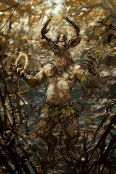 The Greenman, Cernunnos/Herne the Hunter...Cernunnos by Artist wahay...