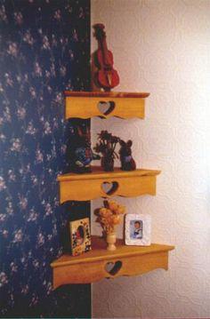 corner floating shelf plans