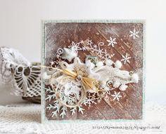 Картина, корзина, картонка и ... Новогодняя открытка