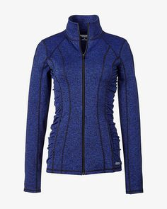 blue marl EXP core zip-up jacket