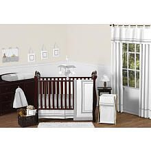 Sweet Jojo Designs Hotel White and Gray Collection - 11 Piece Baby Crib Bedding Set
