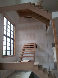 White Oak Stairs with Open Riser Oak Stairs, Can Design, White Oak, Hockey, Home Decor, Homemade Home Decor, Decoration Home, Field Hockey, Interior Decorating
