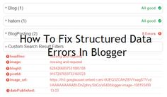 "101Helper | Blogger tips,tricks,widgets,menus,seo,tools: Fixing ""headline and datepublished missing and req..."