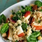 Quinoa Salad with Pears, Baby Spinach and Chick ...