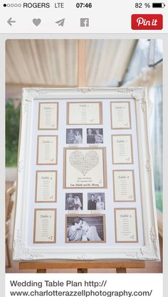 Table seating chart. Show where in the room each table is located to help guests