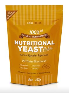 Amazing non-fortified nutritional yeast from Sari Foods. The flavor is amazingly clean and fresh -- I can't stop putting it on everything! #vegan http://sarifoods.co/products/nutritional-yeast-flakes