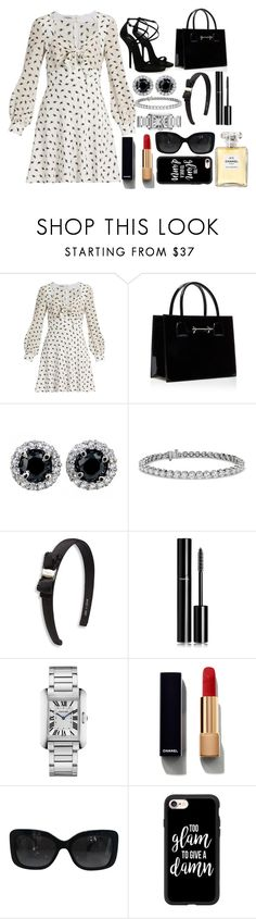 """""""Too Glam To Give A Damn"""" by pulseofthematter ❤ liked on Polyvore featuring Miu Miu, Giuseppe Zanotti, Blue Nile, Salvatore Ferragamo, Chanel, Cartier and Casetify"""