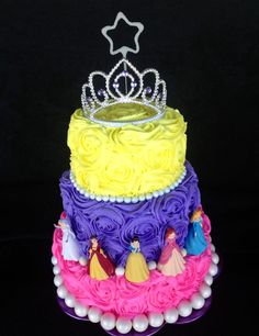 Princess Cake Who wants to help me make something like this for my girlie who suddenly loves princesses? I have until the end of December to figure it out! Disney Princess Birthday Cakes, Birthday Cake Girls, 5th Birthday, Birthday Ideas, Barbie Cake, Disney Cakes, Girl Cakes, Cupcake Cakes, Cupcakes