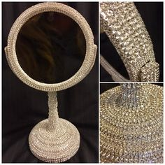 Now available on my Etsy store. It's 15 inches tall with dual mirrors and one of them being 5x magnified. Check out my reviews on my etsy store!! All high quality glass rhinestones encased in metal. #oneofakind #furniture #vanity #mirror #makeup #makupmirror #bathroom #decor #interiordesign #homedecor #unique #instagram #instacollage #instagood #instastyle #instalikes #instaartist #instaart #instamakeup #makeupartist #makeupart #makeupaddict #makeuplover #fineart #fine #fancy #handmade #etsy…