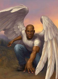 Há de te importantes com que cor de pele tens teu anjo? Não creio... sejas anjo... colorido.....