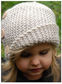 Crochet Cloche Caron Ferrell this is super cute for an older baby/girl! Too bad it's a crochet not knitting pattern.