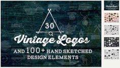 Винтажные логотипы – 30 Vintage Logos   Design Elements 118068