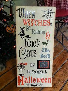 Kimber's Craft Day: Halloween Countdown Board