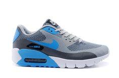 save off 766a1 a1098 Billig Nike Air Max 90 Himmelblau Grau Weiß Herrenschuhe Jcrd Schuhe
