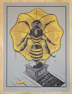 2016 The Avett Brothers - Portsmouth Silkscreen Concert Poster by Charles Crisler