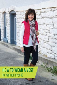 Stylish vests are fun to add to your outfits during any season. I guess you could say I have owned and worn my fair share of vests over the last few seasons. Stylish Winter Outfits, Winter Fashion Casual, Fall Fashion Trends, Fall Outfits, Winter Style, Casual Winter, Fashion Ideas, Christmas Outfits, Mom Fashion