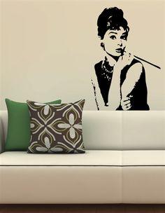 Audrey Hepburn Wall Decals- WALLTAT.com