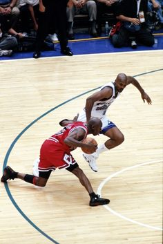 Michael Jordan Chicago Bulls Bryon Russell Utah Jazz NBA Finals
