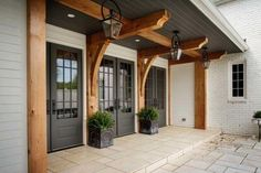 Do you need inspiration to make some DIY Farmhouse Front Porch Decorating Ideas in your Home? When you are trying to create your own unique Farmhouse Front Porch design, you will want to use ideas from those that are… Continue Reading → House Colors, House Design, New Homes, House Plans, Exterior Design, Modern Farmhouse, Modern Farmhouse Exterior, Farmhouse Front Porches, European Farmhouse