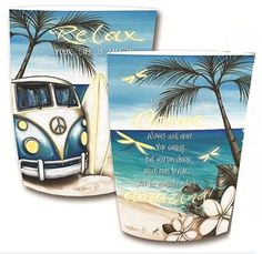 Blue Kombi split screen LED Paper lantern with Affirmation Tropical Beach Houses, Metal Garden Art, Bar Signs, Paper Lanterns, How To Make Paper, Beach House Decor, Soft Furnishings, Go Shopping, Soy Candles