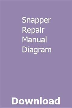 12 Best Snapper Lawn Mower Parts on Ebay images | Lawn mower ... Ignition Wiring Diagram Snapper Re on
