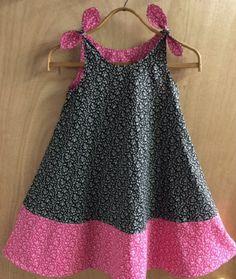 Spring/Summer Cotton Shoulder Tie Dress girls size 7 by SewMeems